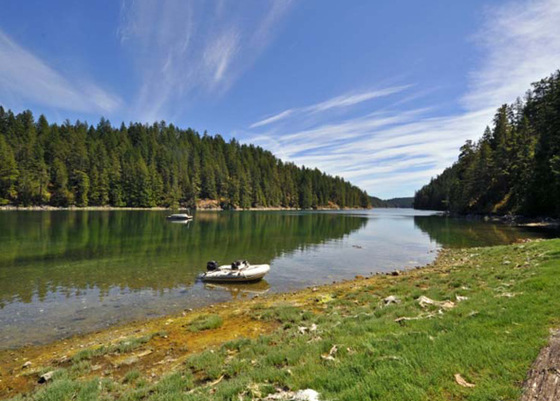 Affordable 10 Acre Oceanfront - Von Donop Inlet, Cortes Island
