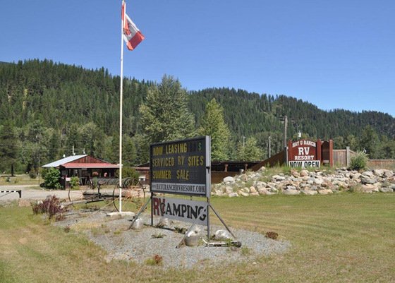 Hay U Ranch RV Resort + Commercial Development Land - Yahk, BC