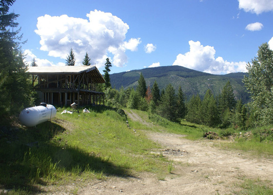 127 Acres of Stunning Wilderness, Views and Partially Completed Home - Yahk BC