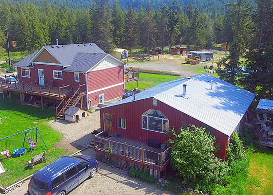 Quaint Hobby Farm with 2 Gorgeous Residences & Farm Infrastructure - Barriere, BC