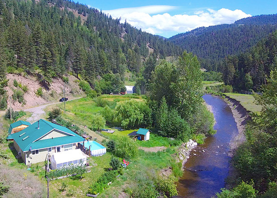 40 Acre Hobby Farm Nestled Along the Banks of the Salmon River - Douglas Lake, BC