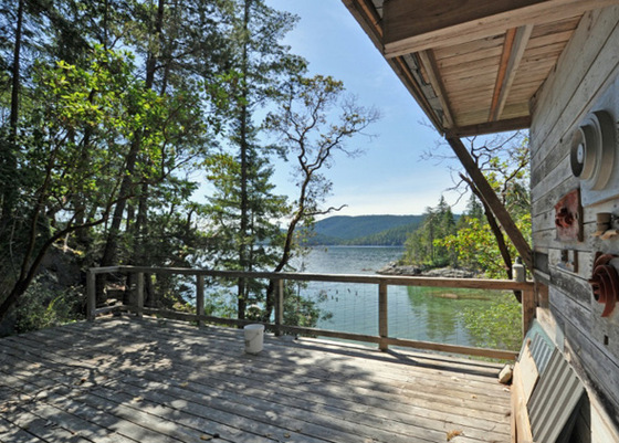 5± Acre Oceanfront with Cabin - Okeover Inlet, BC