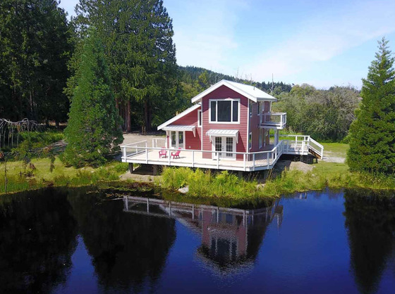 Unique Island Acreage with Fish Bearing Wetland and Beaver Ponds - Galiano Island