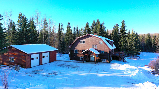 Spacious, Cozy, Log Home Nestled on 88.7 Acres of Bucolic Farmland - Chetwynd, BC