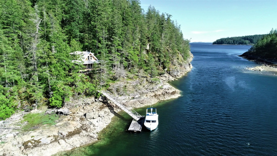 Oceanfront Home and Dock - Boulder Point - Cortes Island
