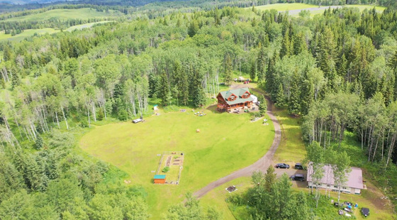 Stunning and Private Douglas Fir Log Home on 21 Secluded Acres - Bridge Lake, BC