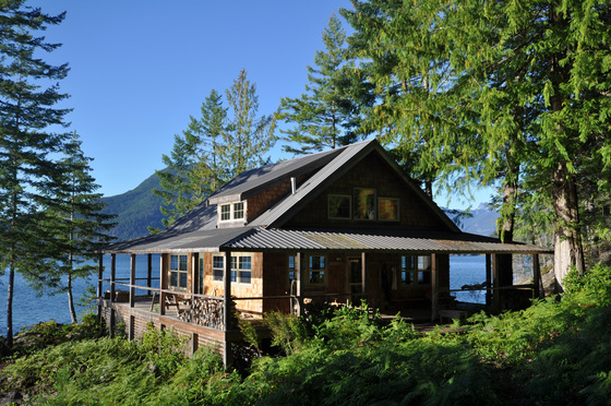 Oceanfront Home, Guest Cabin, Shop and Dock - Middle Rendezvous Island