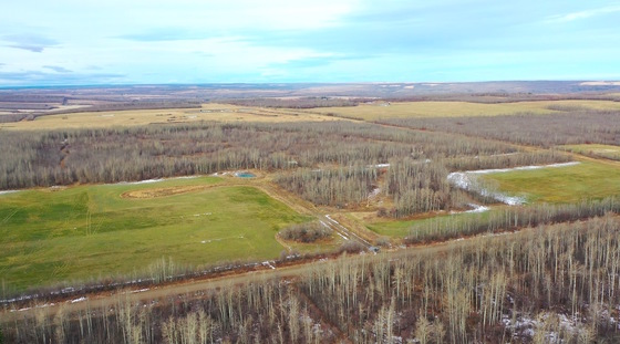160 Acre Parcel with Residential Services and Existing Basement Foundation - Dawson Creek, BC