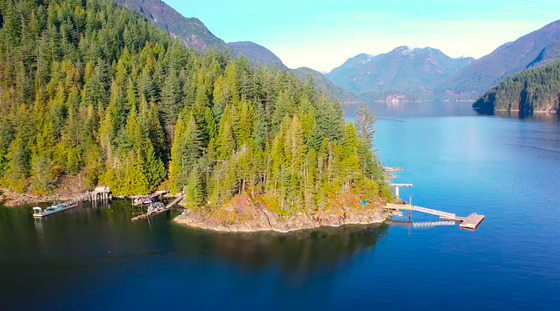 Rare Freehold Oceanfront Lot up the Indian Arm North of Vancouver