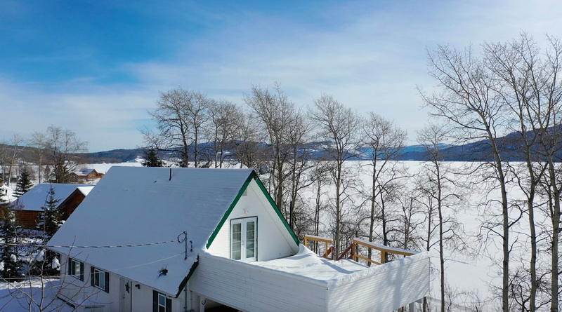 Appealing A-Frame Home/Cabin with 156 ft of Lake Frontage on Francois Lake
