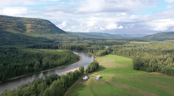 114 Acre Off-Grid Riverfront Farm in the Heart of Elk Country - Chetwynd, BC