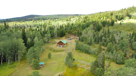 Retreat Style Log Home on 160 Acres with Expansive Country Views - Eagan Lake, BC
